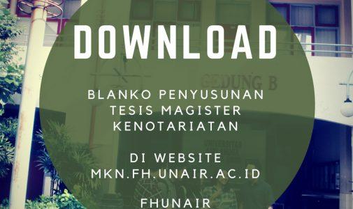 Update Blanko Penyusunan Tesis Magister Kenotariatan